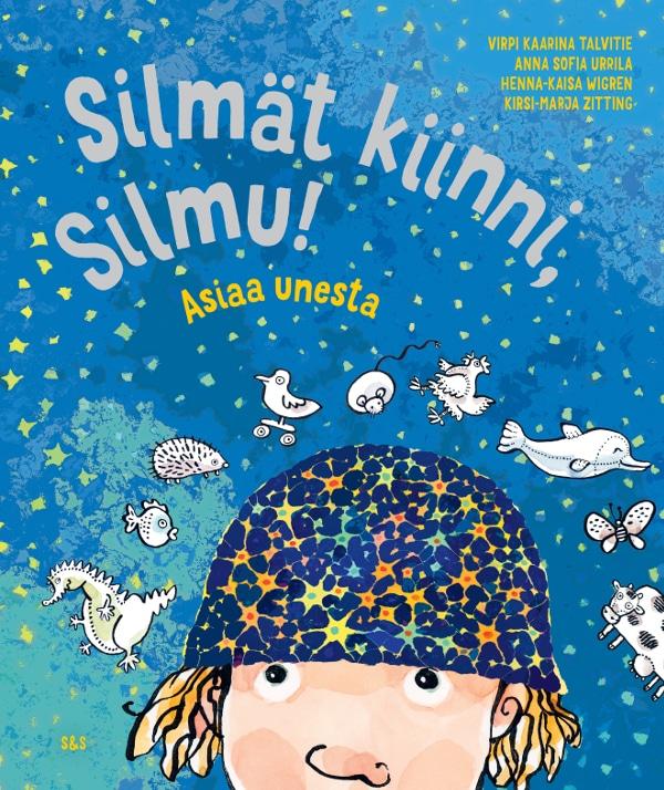 Kirjan kansikuvassa päähenkilöllä Silmulla on päässään pipo, joka on kuvioitu hermosolujen ja/tai valaisevien tähtien malliin. Sinisellä taustalla on Silmun matkalla kohtaamia eläimiä.