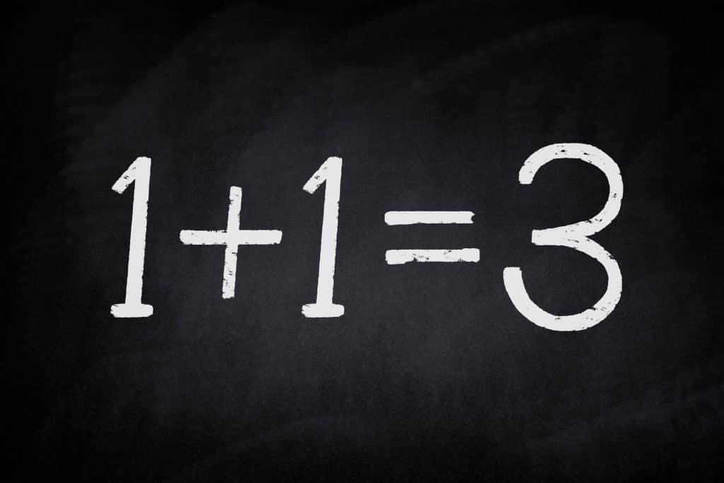 Kuvan mukaan 1+1=3. Virhepäätelmä!